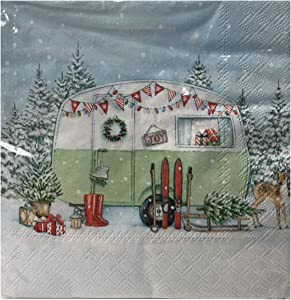 Christmas Holiday Luncheon Paper Napkins 40 ct Disposable Party Supplies (Christmas Camping)