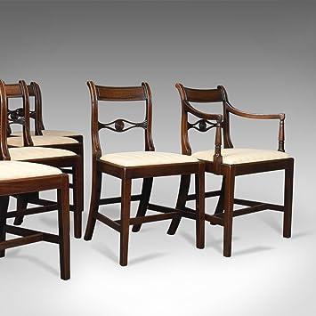 London Fine Antiques Juego de 6 sillas de Comedor Antiguas, 5 + 1 ...