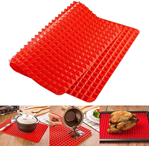 Silicone Pyramid-shaped Oven Pad Pan Baking 40*27CM Mat Tra M1Y6 Non-stick X1F9