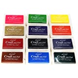 Miraclekoo Craft Ink Pad Finger ink Pad Stamps Partner Set of 12 DIY Assorted Color