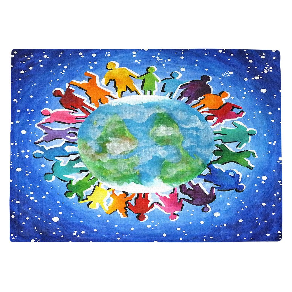 DIANOCHEキッチンPlaceマットby Njoyアート – The World Is My Playground Set of 4 Placemats PM-nJoyArtTheWorldIsMyPlayground2 Set of 4 Placemats  B01EXSHOYO