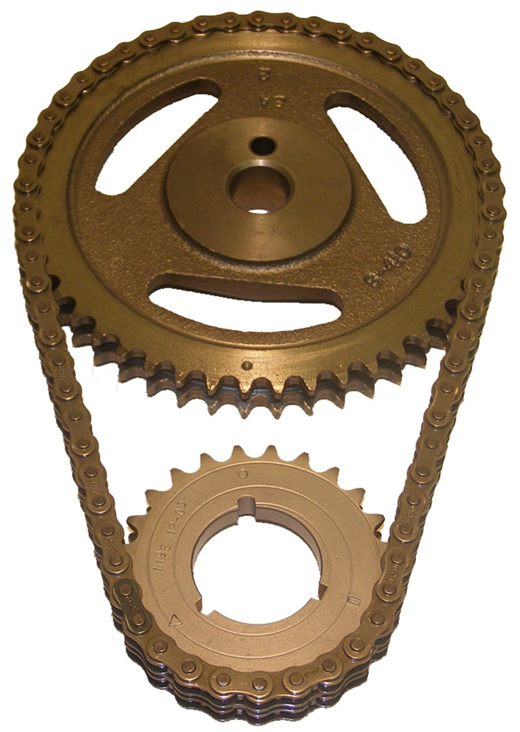 Cloyes C-3029X Heavy Duty Timing Set; Incl Machined Cam Sprocket; 3 Keyway Crank Sprocket; Double Roller Chain;