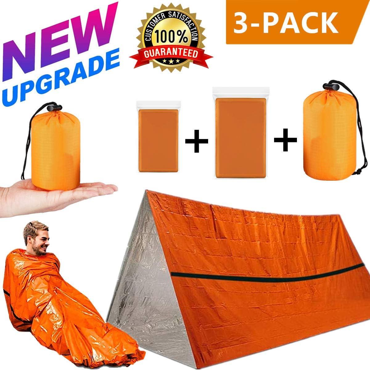 RJCKCC Emergency Tent Emergency Sleeping Bags Camping Emergency Tent Survival Blanket Emergency Sleeping Bag Emergency Tent