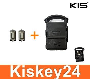 Kis® 2 Botones Carcasa para Llave de Contacto + Batería de ...