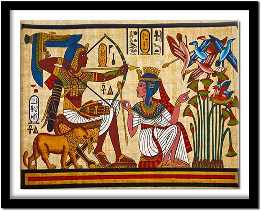 Pittura Diamante Pieno Punto Croce Strass Decorazione della casa Regalo di Natale Senza Cornice ONETOTOP Ricamo Diamante Fai da Te 5D Faraone Egitto 40x50cm