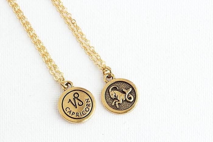 Amazon com: Personalized Zodiac Sign Astrology Necklace