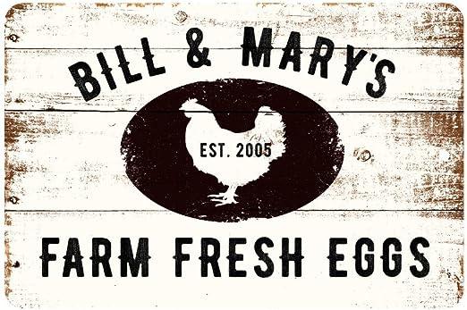 Amazon.com: Personalizado granja huevos frescos aspecto ...