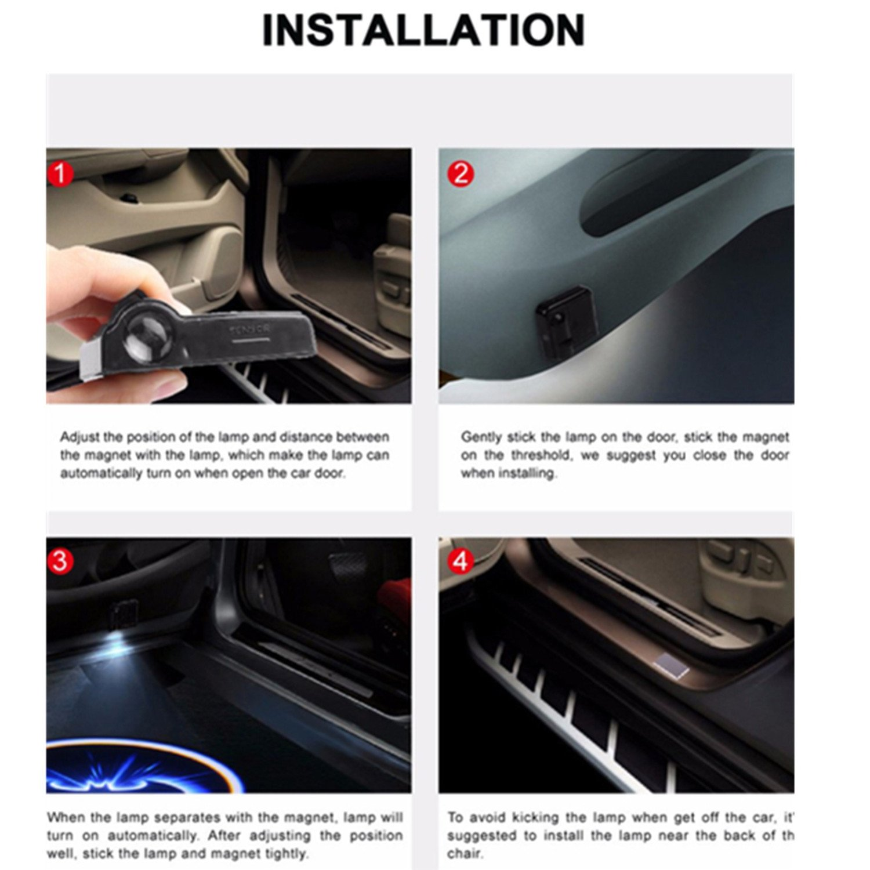 VW BMW 2x Astronaut Car Door Welcome Ghost Shadow Puddle Spotlight Laser Projector LED 3D Astronaut Courtesy Emblem Logo Light Fit Ford AUDI Honda etc Lazynice 5559037885 Toyota