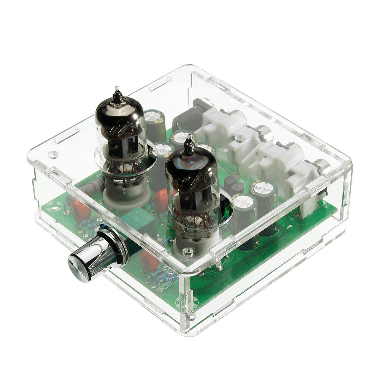 SODIAL CA 12V 6J1 Tubo de preamplificador de valvula Tablero de preamplificador Caja de bufer del amplificador de auriculares