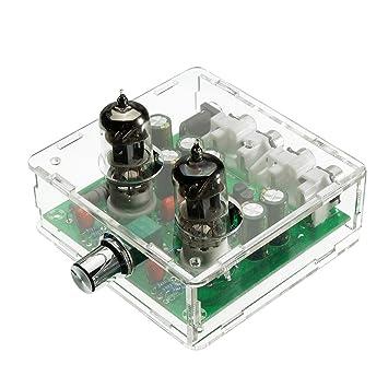 SODIAL CA 12V 6J1 Tubo de preamplificador de valvula Tablero de preamplificador Caja de bufer del