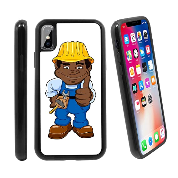 newest 5692a bb6cb Amazon.com: [Cartoon Construction Worker] for Apple iPhone X/iPhone ...