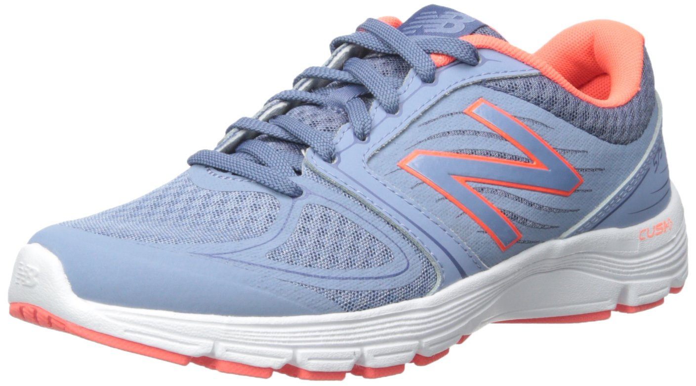 New Balance Women's 575v2 Comfort Ride Running Shoe B00Z7JOXCA 6.5 D US|Blue Gray/Coral