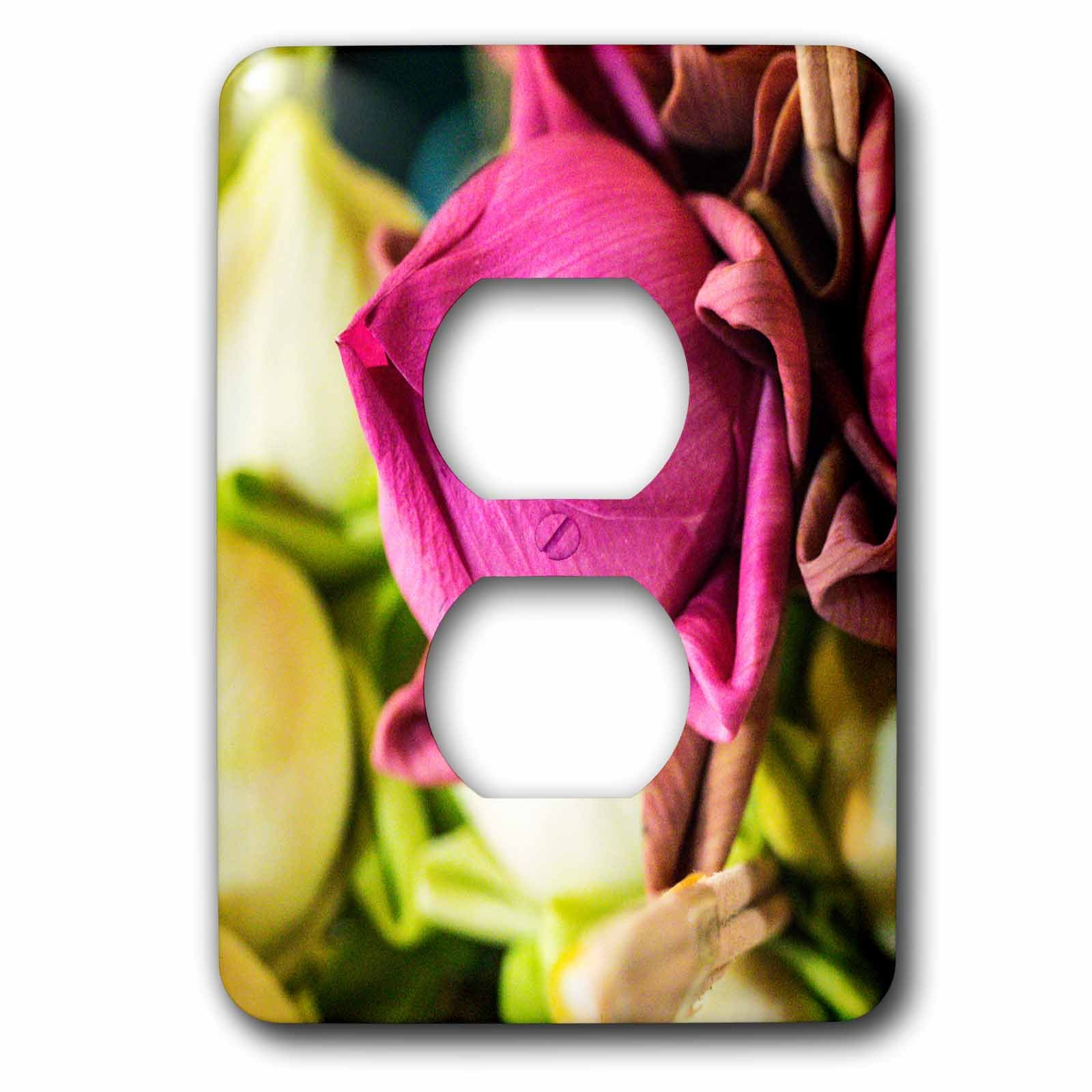 3dRose Danita Delimont - Flowers - Thailand, Chiang Mai, Flowers at the Thai Market Place - Light Switch Covers - 2 plug outlet cover (lsp_276974_6) by 3dRose