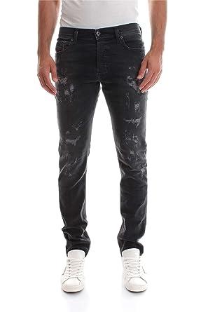 am besten verkaufen später Genieße den niedrigsten Preis Diesel Men's Jeans Tepphar Slim Fit Cotton Black Destroy Mid-Rise 00CKRI-  0683P- 02