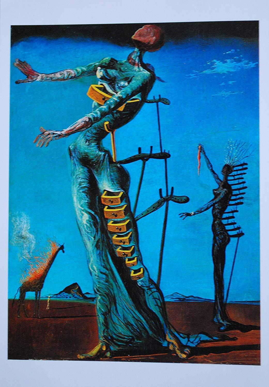 Black Creations La Jirafa ardiente Salvador Dali (The Burning Giraffe) Póster Lienzo Cuadro Impresión artística A0 A1 A2 A3 A4 (A2 Lienzo (40/51cm)): ...