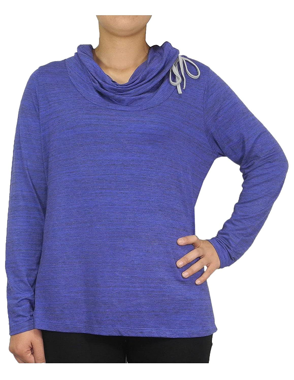 PLUS SIZE Womens Balance Collection (by Marika) Cowl Neck Yoga Shirt