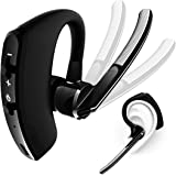 Wireless Bluetooth Headset,Truly Smart Bluetooth V4.2 Earphones with Microphone Charging Box Noise Cancelling Waterproof Mini Bluetooth Headphones for iPhone Samsung Bluetooth Devices(Black) (Black)