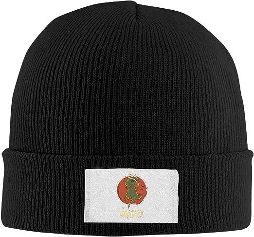 Dunpaiaa Skull Caps The Karat-Rex Winter Warm Knit Hats Stretchy Cuff Beanie Hat Black