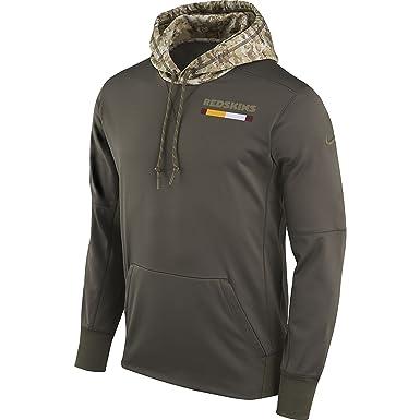 Nike Men s Washington Redskins STS Pullover Therma Hoodie Cargo Khaki Size  Small 5358104ba