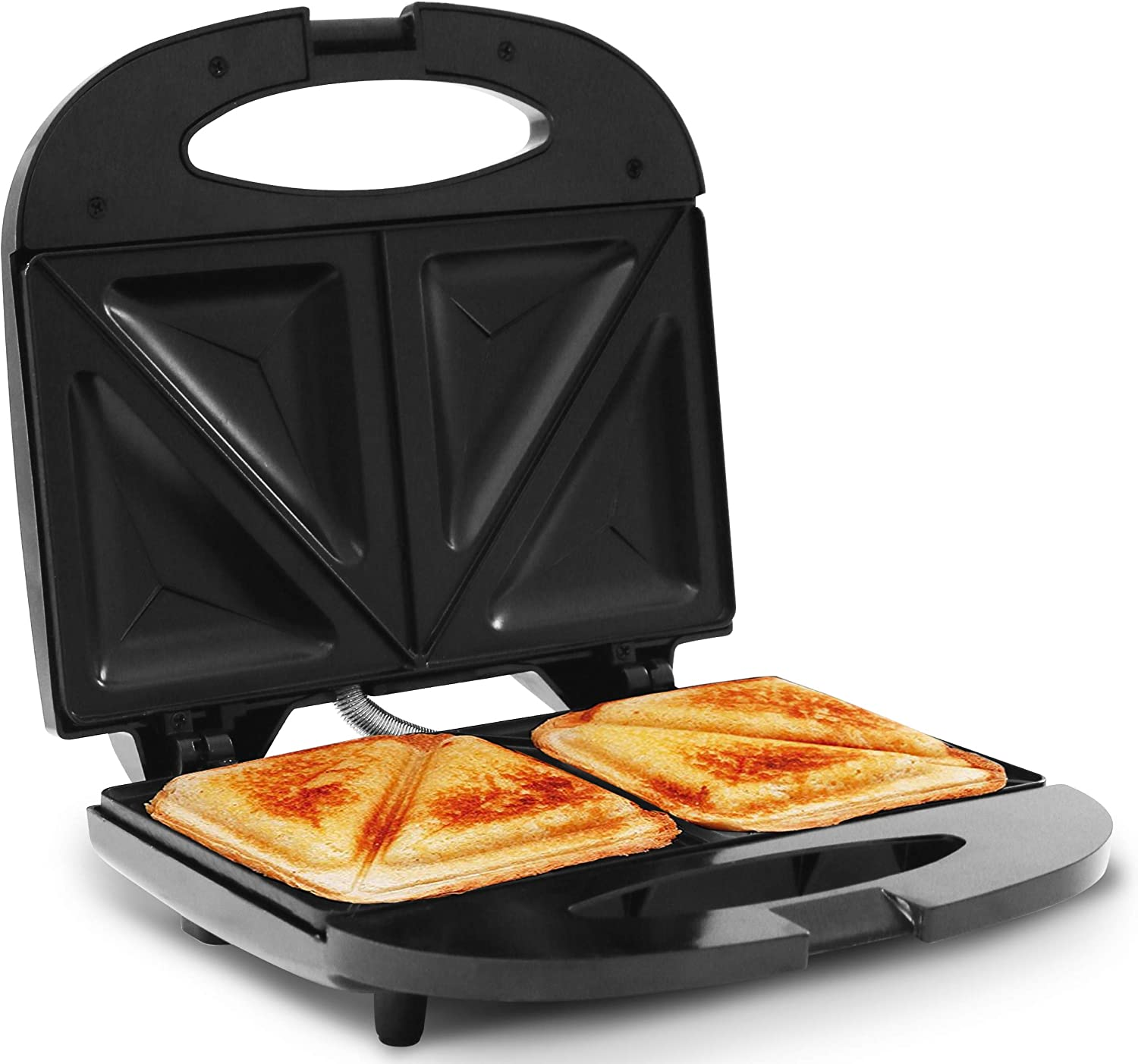 Elite Cuisine ESM-9002KB Compact Electric Panini Press Sandwich Maker with with, Non-Stick, Black