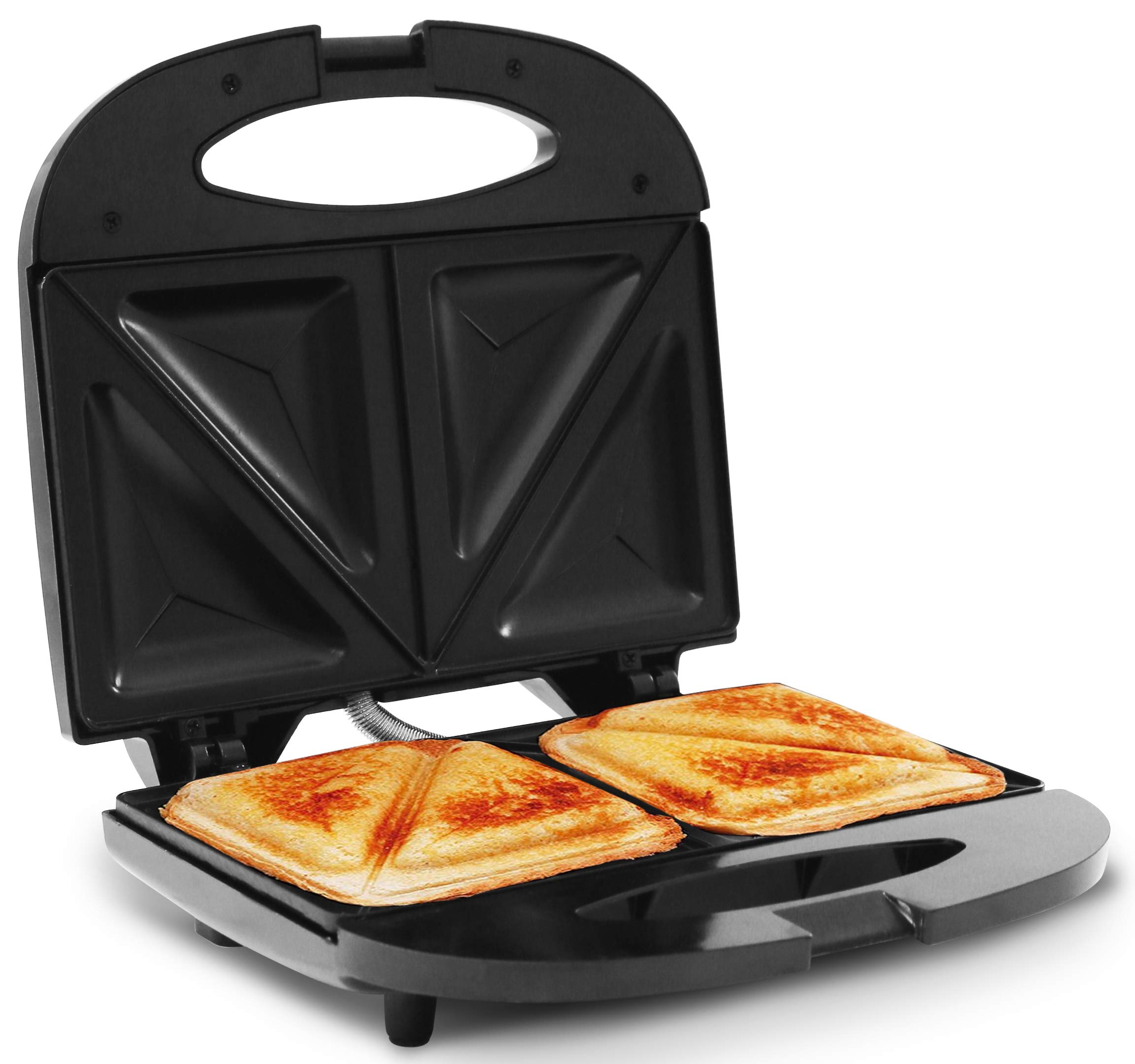 Elite Cuisine ESM-9002KB Compact Electric Panini Press Sandwich Maker with with, Non-Stick, Black by Maxi-Matic