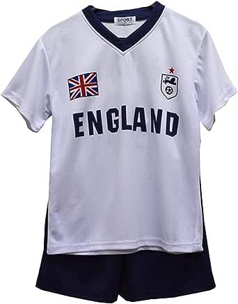 Pantalones Cortos de Verano de fútbol para niños Conjunto de Chaleco Superior para niñas Nuevas Talla Edad 2-14 años