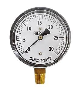 "Kodiak Controls KC25-30""H2O Low Pressure Gauge 30"" WC"