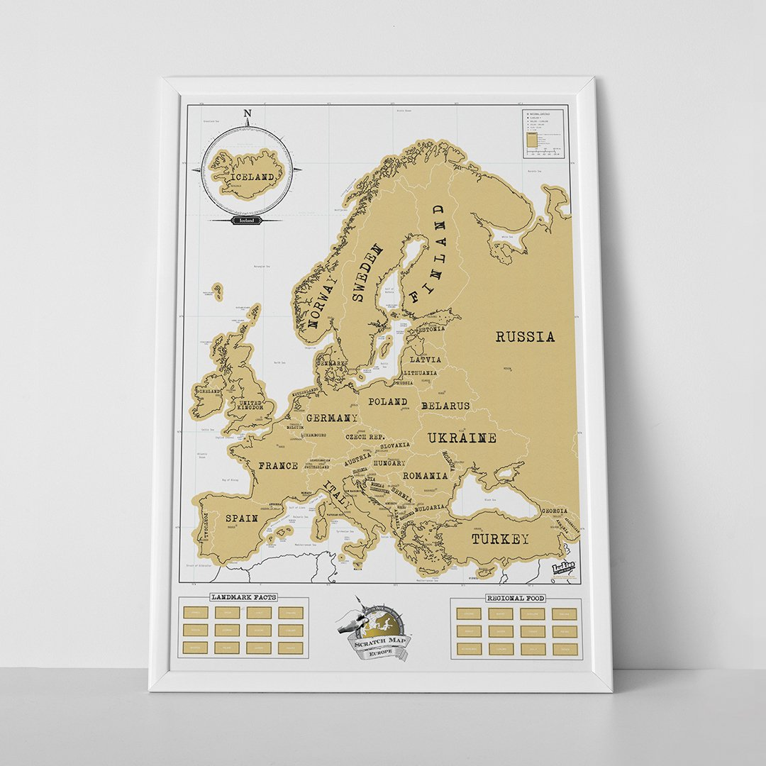 Amazon scratch off europe map wall maps office products publicscrutiny Image collections