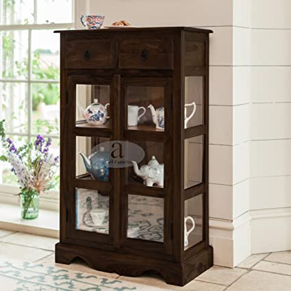Angel Furniture Rosewood Solid Sheesham Kitchen Crockery Cabinet