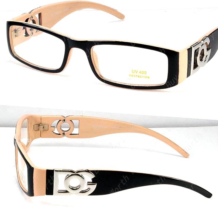 10ddd654d02 DG Eyewear Clear Lens Glasses Fashion Mens Womens Designer Rectangular Frame  RX ...
