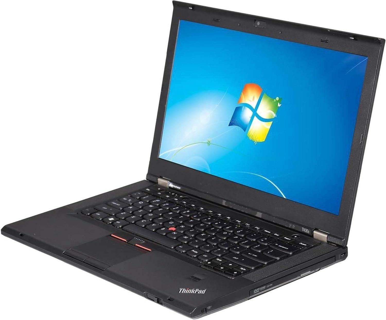 "Lenovo ThinkPad T430S 14.0"" Refurb Laptop - Intel i5 3320M 3rd Gen 2.6 GHz 8GB 128GB SSD DVD-RW Win 10 Pro - Webcam"