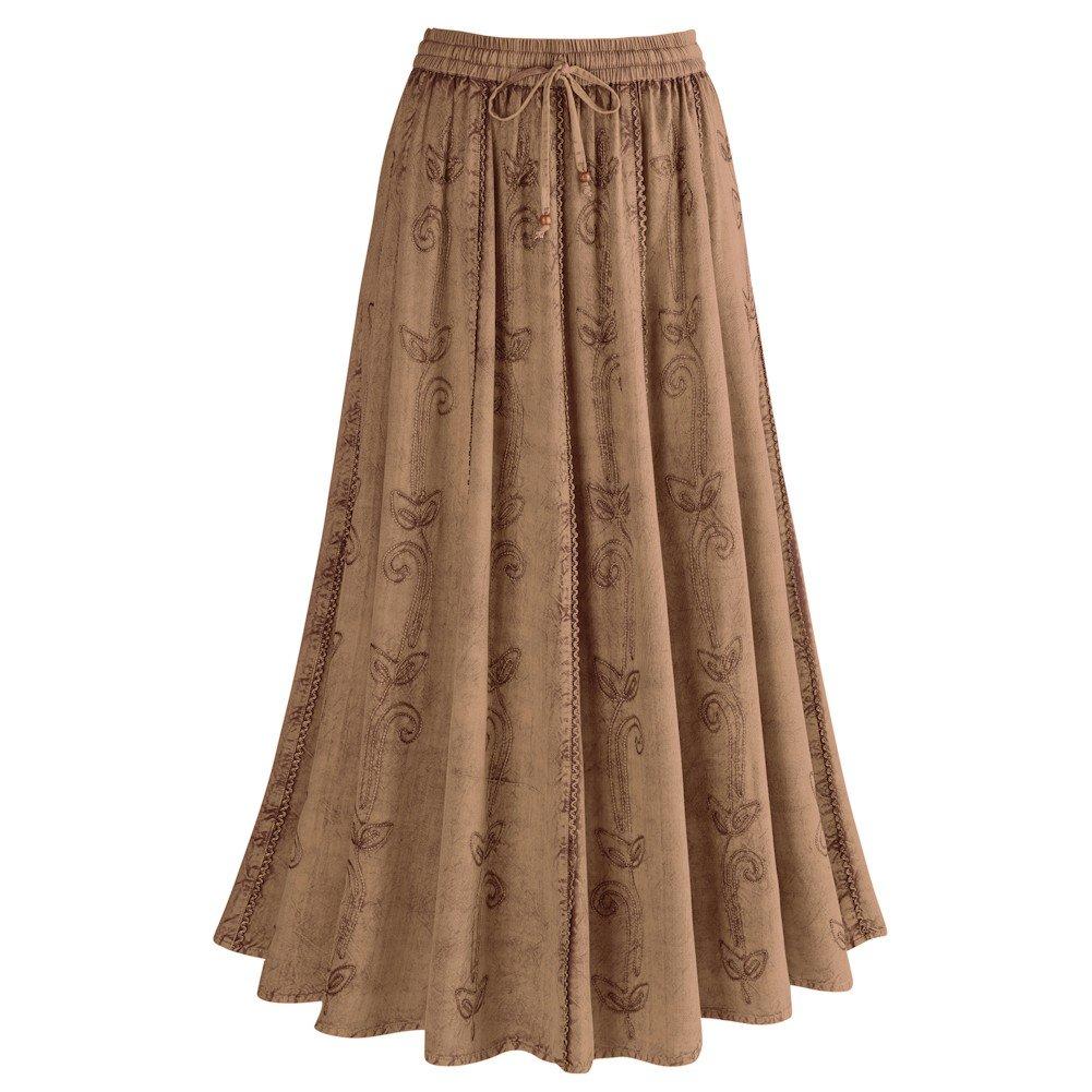 26b128450f7 CATALOG CLASSICS Women s Over-Dyed Maxi Skirt - Elastic Waistband - 36
