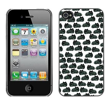 Ikiki Tech Hard Case Cover Black Cats Wallpaper Drawing Apple