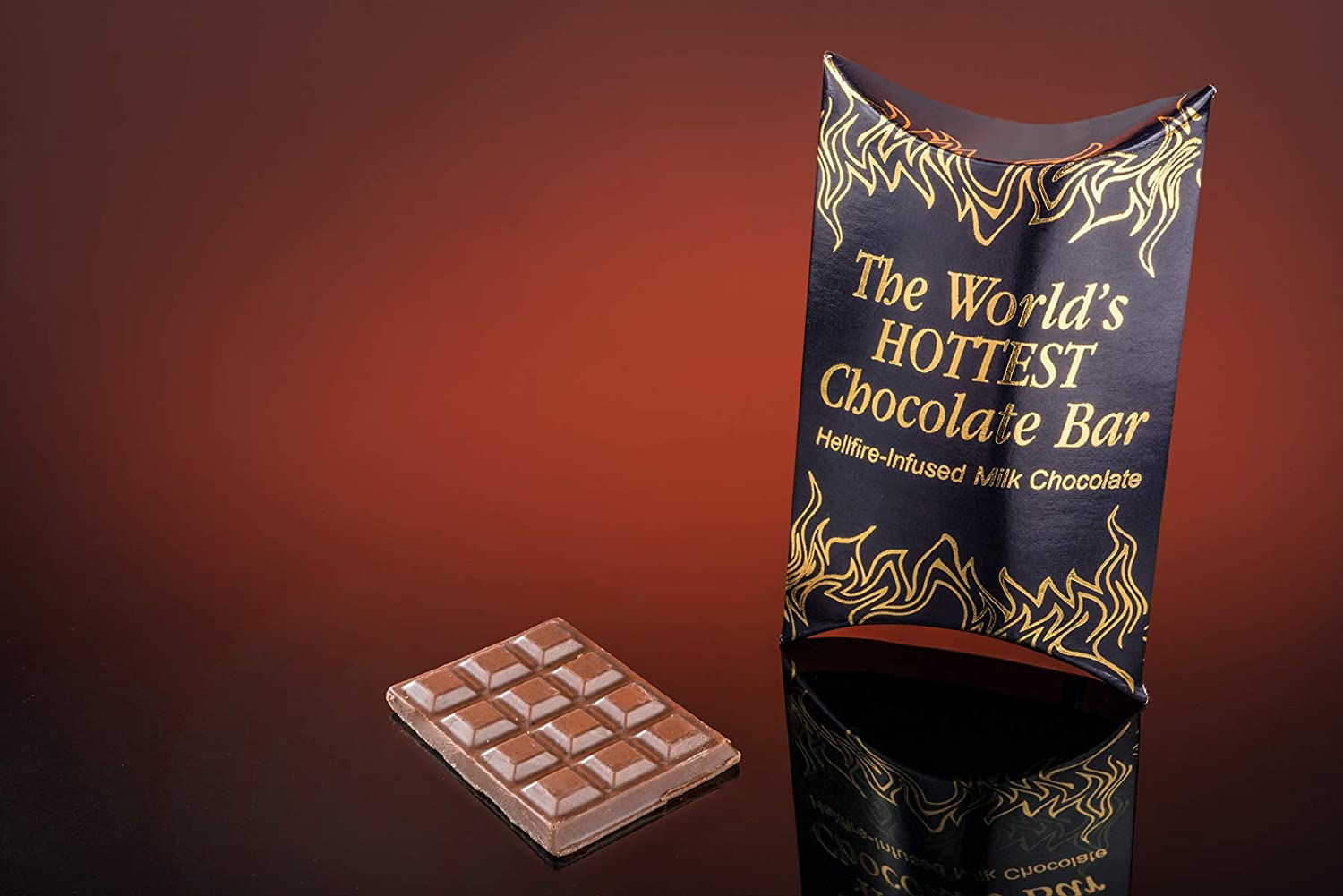 Worlds Hottest Chocolate Bar: Super spicy chocolate made with 9 million SHU. From Vat19.