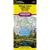 United States, California And Nevada Adventure Map (National Geographic Adventure Travel Map) [Idioma Inglés]