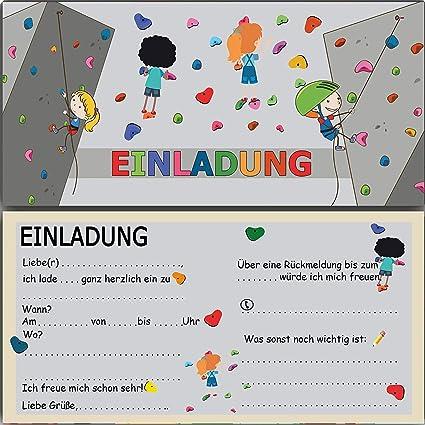 wirmachenkarten Invitación de cumpleaños para niños, Escalada ...