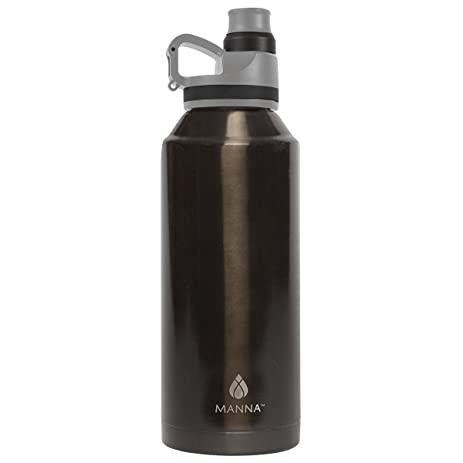 08d971c38b1 Image Unavailable. Image not available for. Color  Manna Jumbo Metallic Stainless  Steel Sweat Proof Hot   Cold 50 oz Insulated Water Bottle for