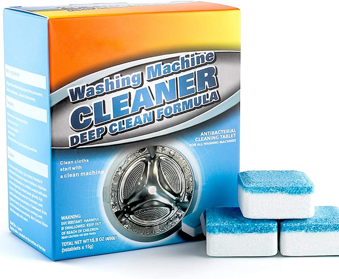 30 Count Washing Machine Cleaner - Dahoo Washer Machine Cleaner Effervescent Tablets, Deep Cleaning Tablets for All Machines
