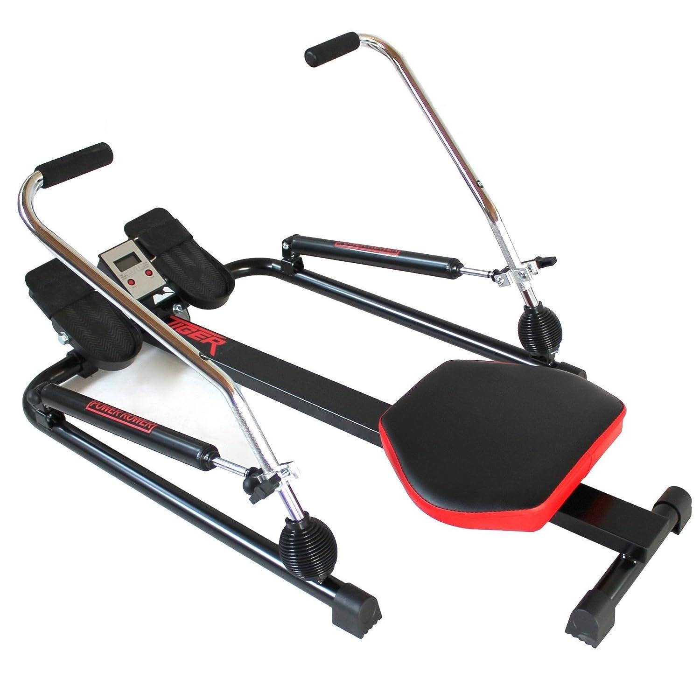 Yelloo - Código RM4030 - Remoergómetro Tiger Power, con pistones hidráulicos, gimnasio, fitness, ejercitación de brazos