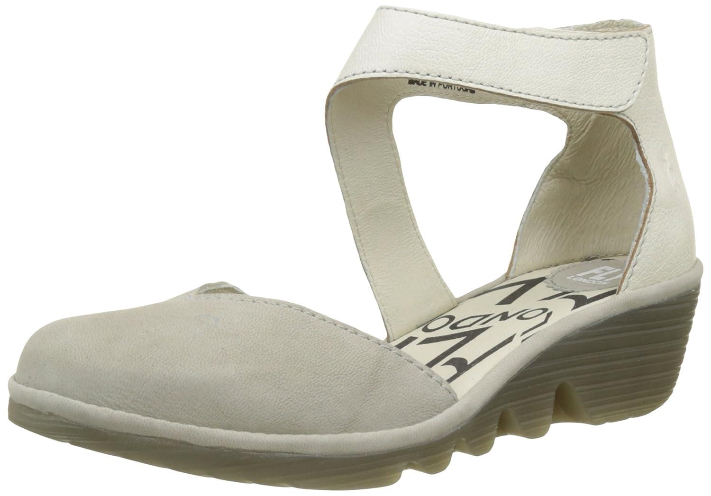 TALLA 37 EU. Fly London Pats801fly, Zapatos con Tacon y Correa de Tobillo para Mujer