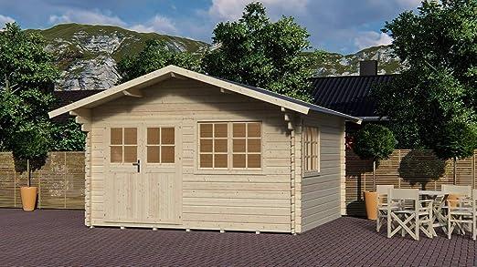 Salón Tienda Online Casa Casa Frankfurt de Madera de jardín 371x371x275h: Amazon.es: Jardín