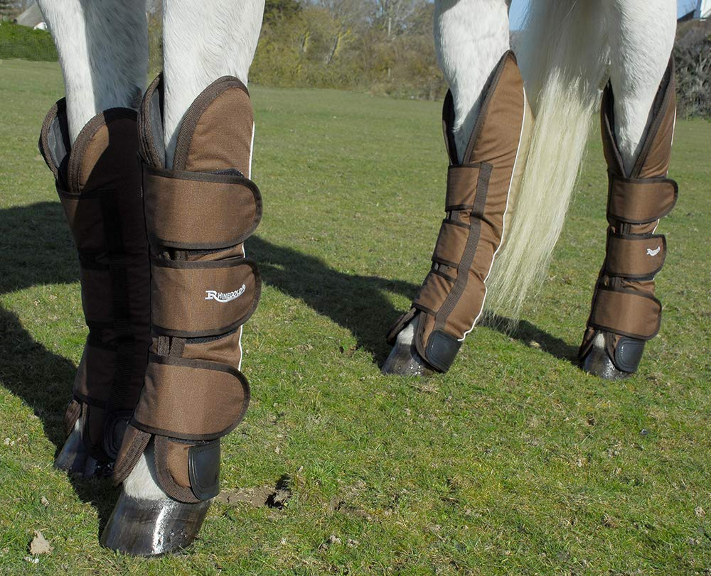 Rhinegold Ripstop Full Length Horse Travel Boots in Black