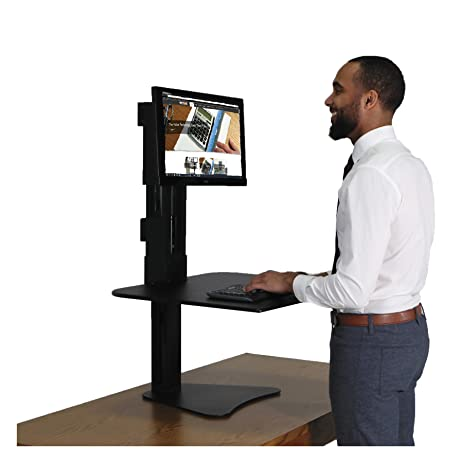 victor dc300 high rise collection sitstand desk converter 28 x 23 x 15 1