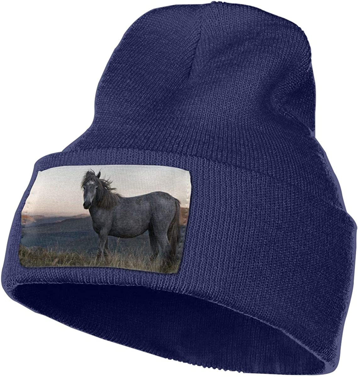 ONHIM Wild-Horse Men /& Women Plain Cuff Serious Style Beanie Hat Skull Cycling Hats