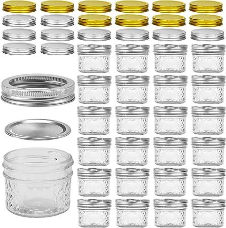 Amazon.com: Vasos de vidrio con tapas, Vasos de cristal de ...