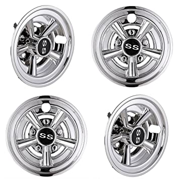 Image Unavailable. Image not available for. Color  AW 4pcs 8 quot  Golf  Cart Wheel Cover Hub Cap SS Chrome ... 064ee718bbd0
