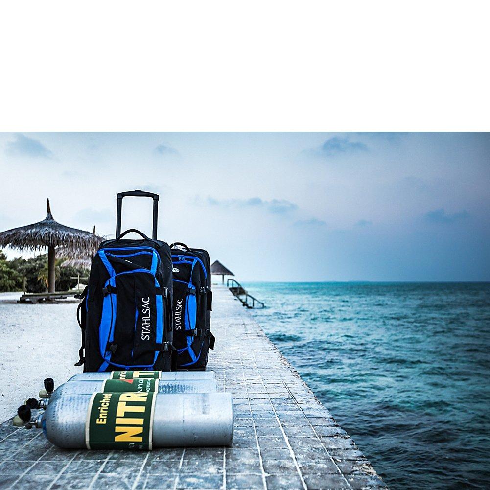 Amazon.com: Stahlsac Curacao Clipper Wheeled Dive Bag (Blue/Black): Computers & Accessories