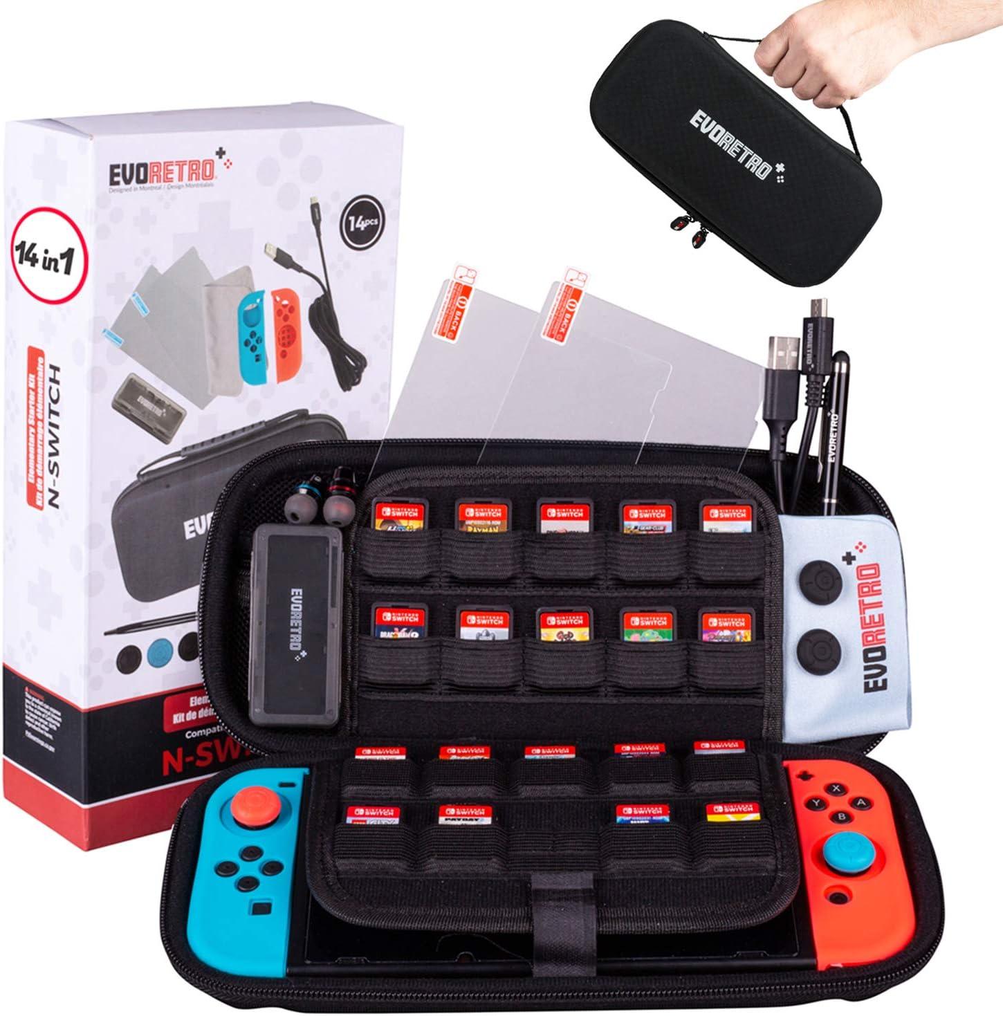 Protective Starter Kit Accessories 14 pcs - Bundle for Nintendo ...