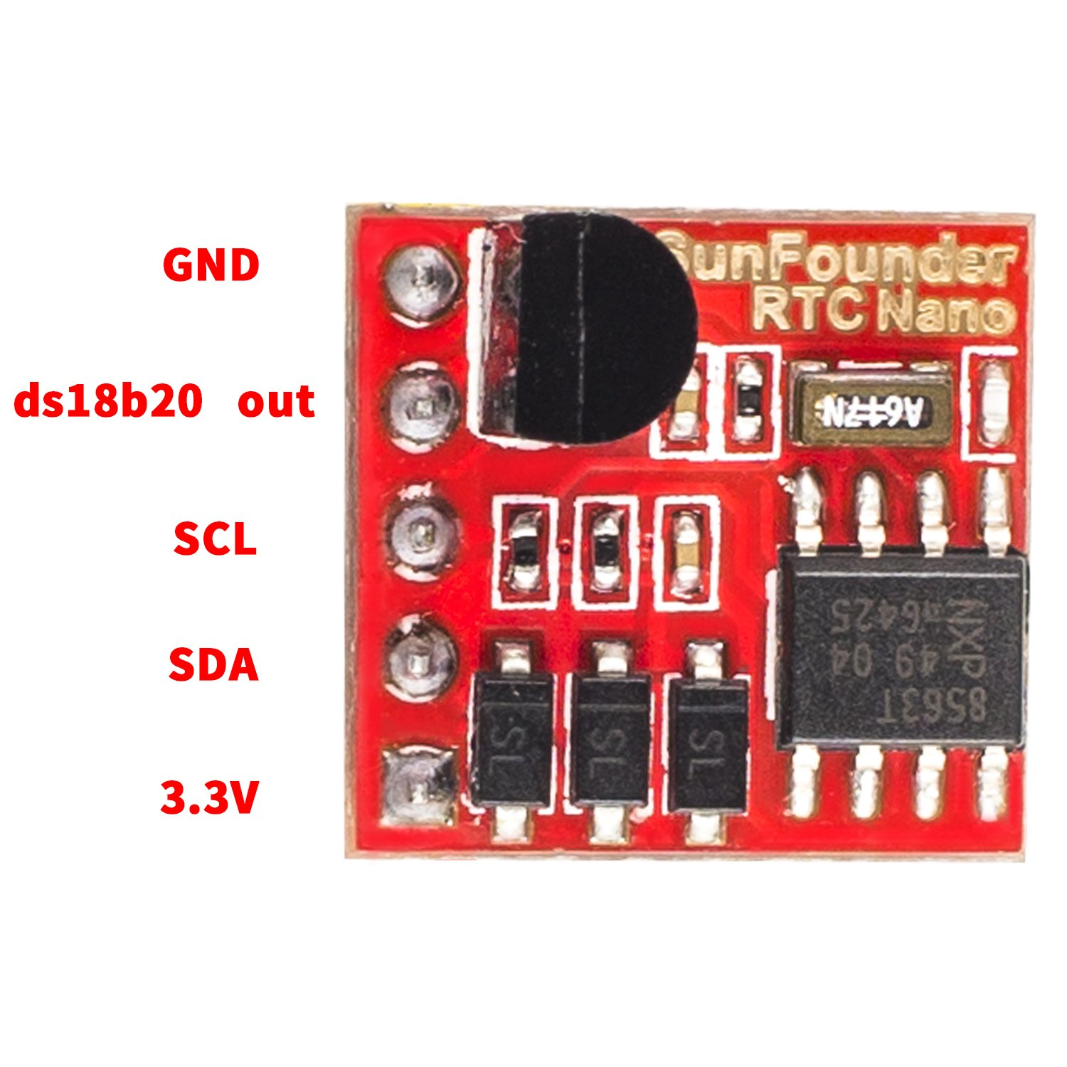 Sunfounder Pcf8563 Iic I2c Real Time Clock Rtc And Example Of A Recommended Application Circuit For Backup Ds18b20 Temperature Sensor Module Arduino Raspberry Pi Computers Accessories