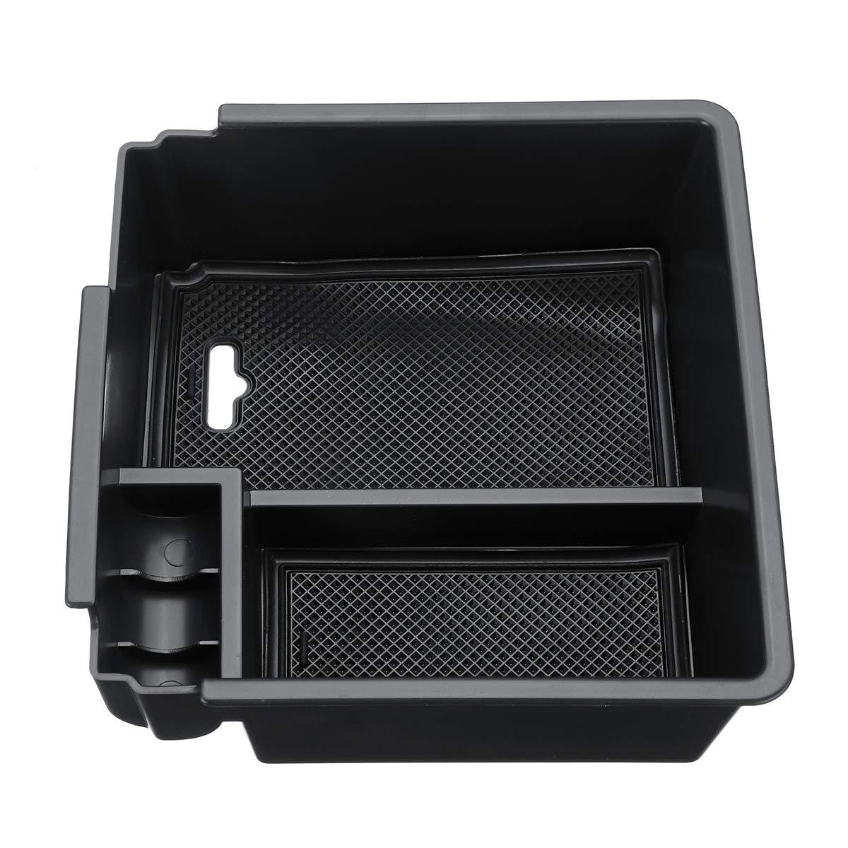 AAlamor Car Center Console Armrest Storage Box Glove Tray Holder for Ford Ranger T6 16-18
